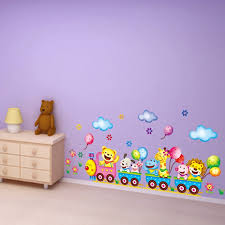 Home Decoration Wall Stickers Aliexpress Com Buy Train Wall Sticker For Kids Room Home Decor