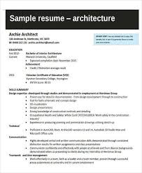 Sample Architect Resume Architectural Resume Lukex Co