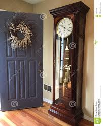 grandfather s welcoming front doorwith my grandfather s clock stock image image