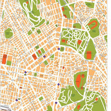 vector map city center maps vector wall maps made in barcelona from