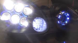 lexus gs300 vs acura tl lexus gs custom headlights ls600 bi xenon led youtube
