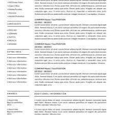 Pics Photos Resume Templates For by Resume Templates For Mac Word U0026 Apple Pages Instant Download
