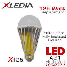 led light bulbs for enclosed fixtures xledia x125l led bulb 125 watt equal fully enclosed rated