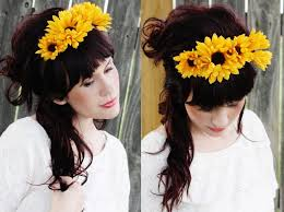 sunflower headband floral headband d i y project a beautiful mess