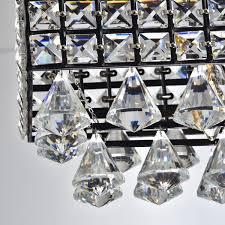 Antique Black Chandelier Jolie Antique Black 5 Light Rectangular Crystal Chandelier Free