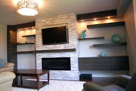 built in electric fireplace and tv design modern wall mount with