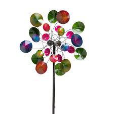 wind weather kaleidoscope metal wind spinner reviews wayfair