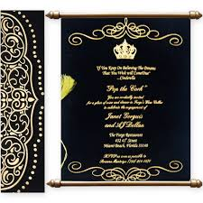 Online E Wedding Invitation Cards Variant Of Scroll Wedding Cards With Matte Finish Paper