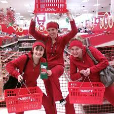 target black friday woman commercials so we went to target at 12a m for the 2 day sale dressed up as the