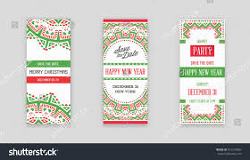 set vector happy new year merry stock vector 515374060