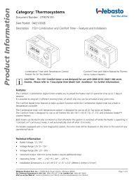 webasto combination timer 1531 timer electrical connector