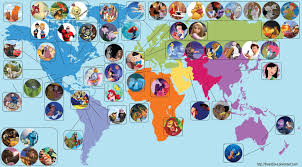 Disney World Google Map by 52 Disney Animated Movie Locations Mapped Around The World