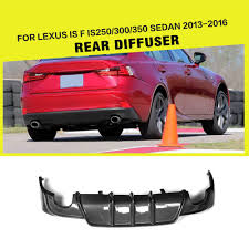 lexus is 250 aliexpress com buy carbon fiber rear diffuser lip spoiler for