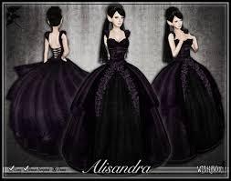 alisandra purple gothic wedding dress truly madly deep u2026 flickr