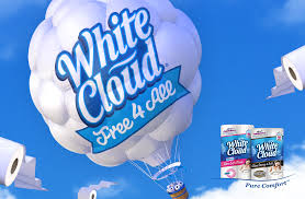 White Cloud Bathroom Tissue - white cloud offers complimentary bath tissue with new