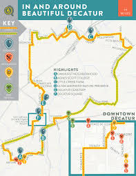 Portland Bike Map by In And Around Beautiful Decatur U2014 Bikabout