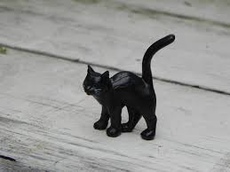 Black Cat Halloween Craft by Miniature Black Cat Halloween Miniature Fairy Garden Accessories
