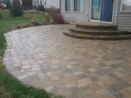 Patio Design Idea by Paver Patio Ideas With Longue Chair Also A Black Square Table