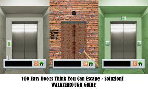soluzione gioco 100 doors and rooms 100 easy doors think you can escape soluzione livello 71 72 73 74 75