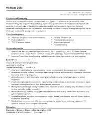 summary of qualifications on a resume professional interior communications electrician templates to william dole 1300 lane street city ca 00000 cell 000 000 0000 email email email com professional summary