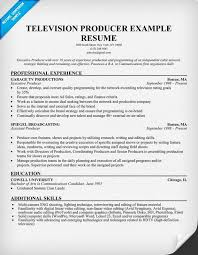 Production Resume Examples by Tv New Media Producer Resume Sample Tv News Photographer Free