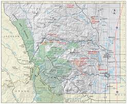 Colorado County Map by Larimer County Colorado Geological Survey