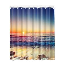 Fashion Shower Curtain Fashion Waterproof Fabric Bath Shower Curtain Bathroom Drapes