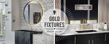 Gold Bathroom Fixtures Gold Fixtures Bring Luxury Warmth To Your Space Winnelson