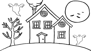 ghost house coloring book drawing pages for kids learn colors