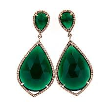 emerald green earrings green agate earrings adam corp