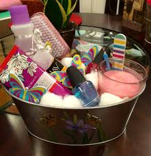 nail spa gift basket made by yours truly all items from dollar