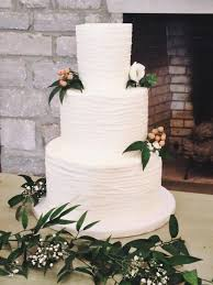 wedding cake greenery nashville textured buttercream lines wedding cake with