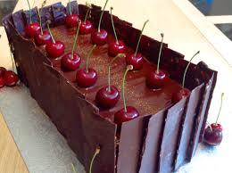 mirror glaze cake black forest gateau with chocolate cherry mirror glaze gluten