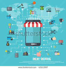 Awning Online On Line Store Sale Laptop Awning Stock Vector 456215872 Shutterstock