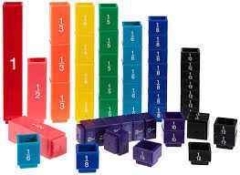 learning resources fraction tower cubes equivalency set amazon co