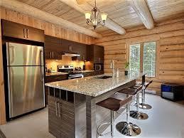cuisine chalet bois aigle royal au chalet en bois rond chalets appartements