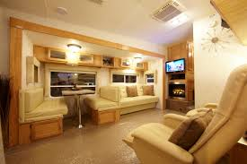 motorhome cool luxury caravan interior design idea white modern
