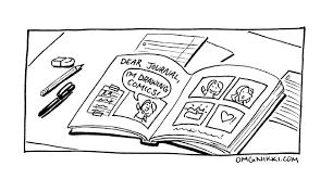 draw comics start journal comic omg nikki