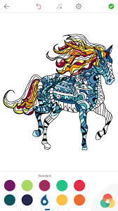 horse coloring book for adults for android ios and windows phone