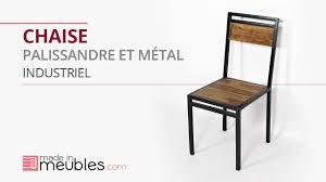 chaise m tallique chaise industrielle en bois et métal