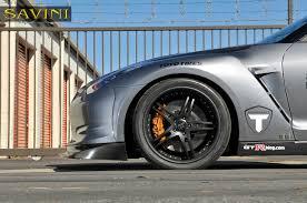 nissan gtr matte black gold rims gt r savini wheels