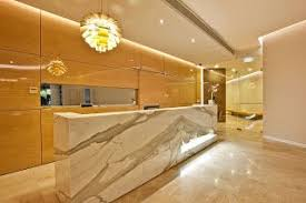 Marble Reception Desk Marble Reception Desk And Panelling With Sliding Door Centro