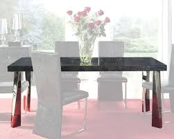 modern black glass top dining table cruz european design spain 33d72