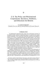 Universities As Multinational Enterprises The Multinational 9 U S Tax Policy And Multinational Corporations Incentives