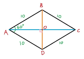 A Rectangle Is A Parallelogram With A Right Interior Angle One Angle Of Rhombus Is Given To Be 60 Degrees And Its Side Is