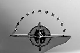 1956 lincoln continental ornament photograph by reger