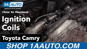 2002 toyota camry ignition coil how to replace install ignition coils 09 toyota camry