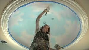 Ceiling Art Mural Tutorial How To Paint Clouds On The Ceiling Youtube