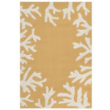 Coral Outdoor Rug Buy Yellow Outdoor Rugs From Bed Bath U0026 Beyond