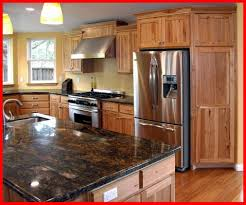 rustic hickory kitchen cabinets appealing picture of rustic hickory kitchen cabinets lovely image